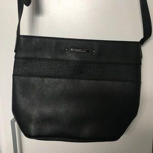 Basque Black Shoulder Bag Crossbody Handbag Myer